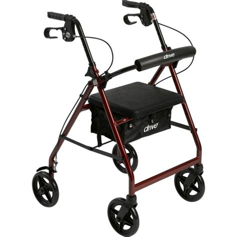 drive walker with seat drive aluminum rollator with fold up and removable