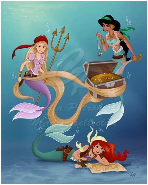 Madmoiselleclau Art Blog Disney Pirate Mermaids Pictures Of Disney Princesses As Mermaids