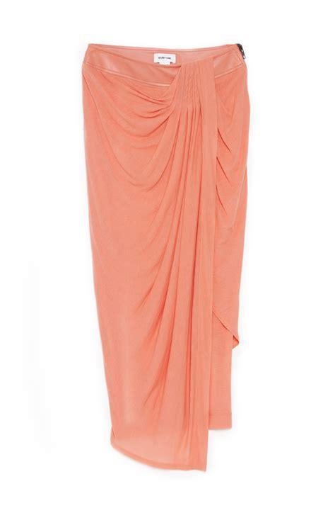 skirt draping helmut lang drape jersey skirt in pink rogen lyst