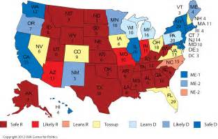 electoral map of the united states harrolds electoral college state of fr 3aug12