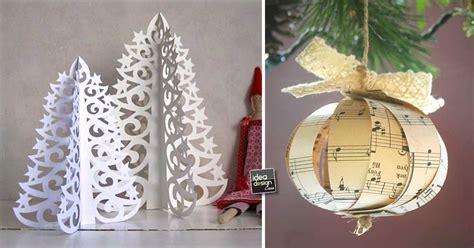 sti per candele fai da te decorazioni natalizie fai da te con la carta 15 idee per