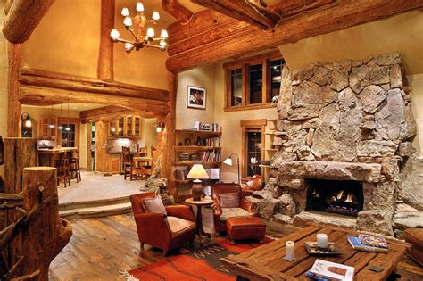 hybrid log house traditional living room vancouver