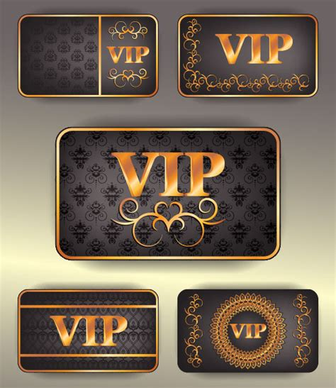 vip card design template vip card design free vector graphic