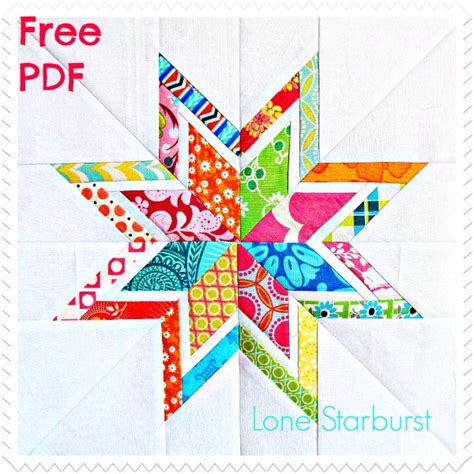 Lone Quilt Pattern Template lone starburst paper pieced quilt block free pdf pattern white horses patterns and block
