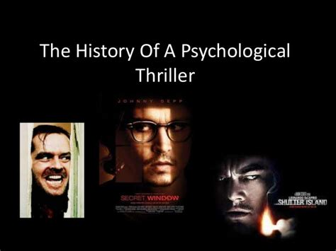 the a novel of psychological suspense books the history of a psychological thriller