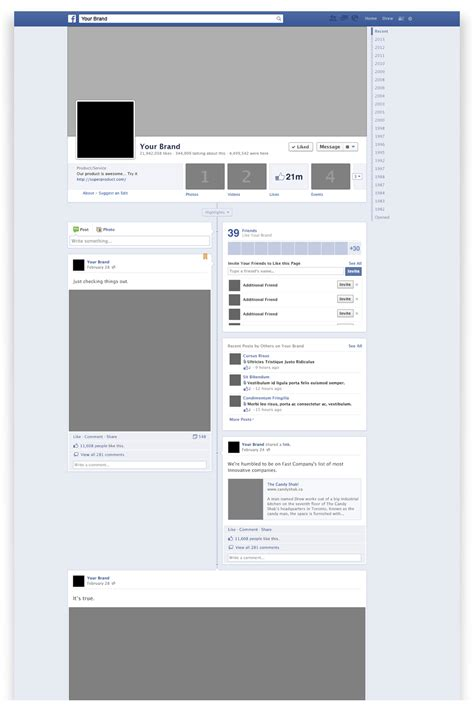 facebook layout template vector facebook brand page psd mockup file