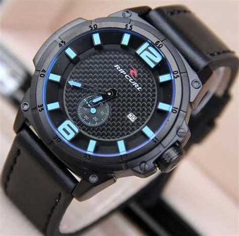 Jam Tangan Gc 090 Hitam List Biru jual jam tangan ripcurl chrono detik tali kulit rc6622