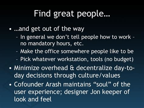 find great people and
