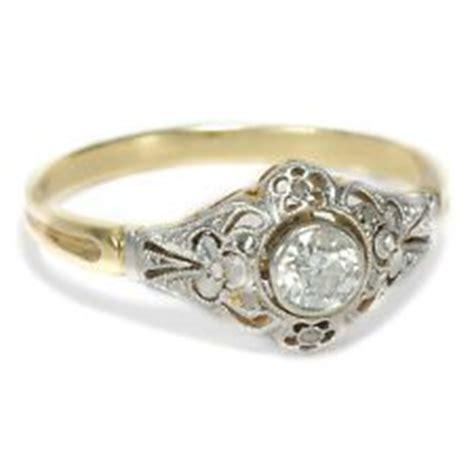 Verlobungsring Brillant by Englischer Jugendstil Diamant Ring 750 Gold Platin