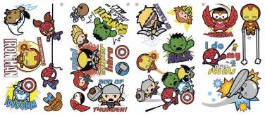 Ordinary Hello Kitty Room Decorating Ideas #8: RMK2656SCS_Marvel_Superhero_Kawaii_Art_Wall_Decals_Product.jpg