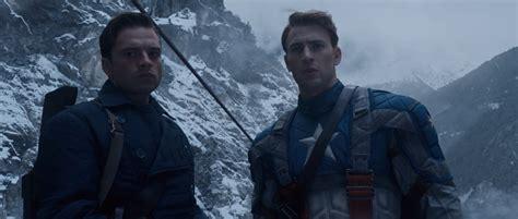 Captain America And Bucky Barnes snow drift gypsymoon captain america archive