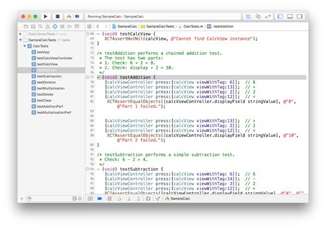sle of xcode about testing with xcode