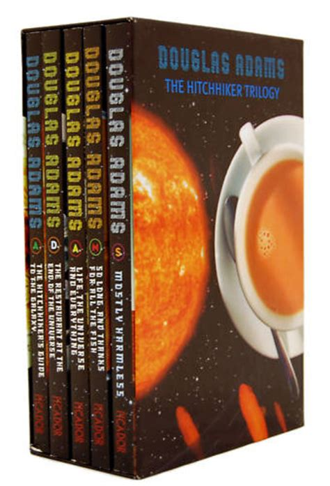 douglas the hitchhiker trilogy the hitchhikers guide to galaxy 5 books trilogy box set