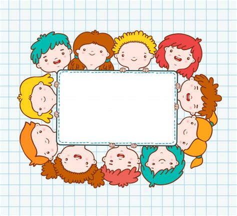 free doodle border vector doodle blank frame vector free