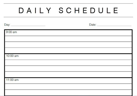time management daily planner templates 5 daily calendar template options templates assistant