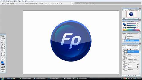tutorial photoshop cs5 create logo photoshop tutorial make a glossy logo youtube