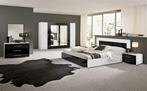 chambre de nuit moderne rfcc00102 chambre 224 coucher moderne blanc et noir mgc