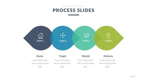 powerpoint process template free infographic slides for ppt