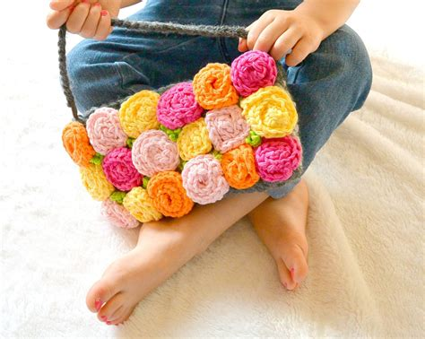free crochet rose bag pattern roses crochet purse mama in a stitch