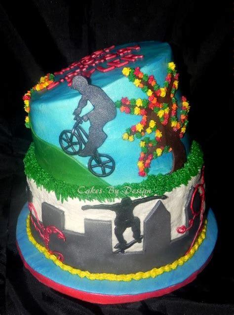 pin homemade bmx track cake ajilbabcom portal  pinterest cakepinscom bmx life birthday