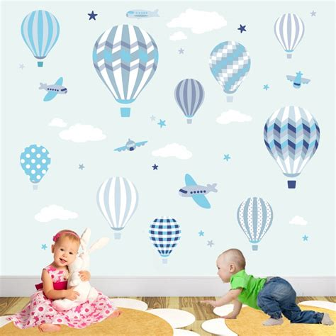 Air Balloons Wall Sticker air balloon jets wall stickers