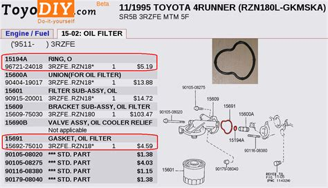 Toyota Part Number Best Place To Find Part Number Exploded Diagrams For 3rd