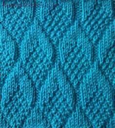 knit purl stitches pine cone