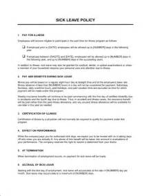 Sick Leave Policy Template sick leave policy template sle form biztree
