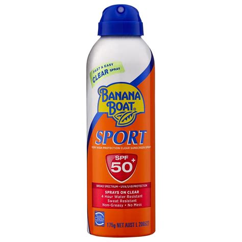 Sport Clear buy sport spf 50 clear spray sunscreen 175 g by banana