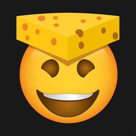 cheese emoji emoji cheesehead cheese hat cheesehead t shirt teepublic
