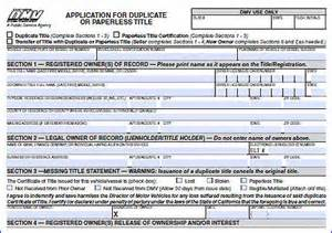 getting new registration for a car motor vehicle registration forms aa vehicle registration