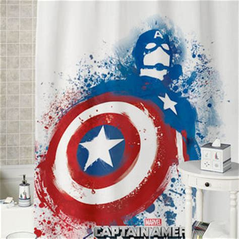 captain america shower curtain captain america splash special shower from curtaindecor on