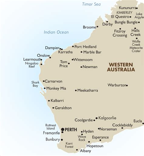 map of western australia western australia australia vacations 2017 18 goway