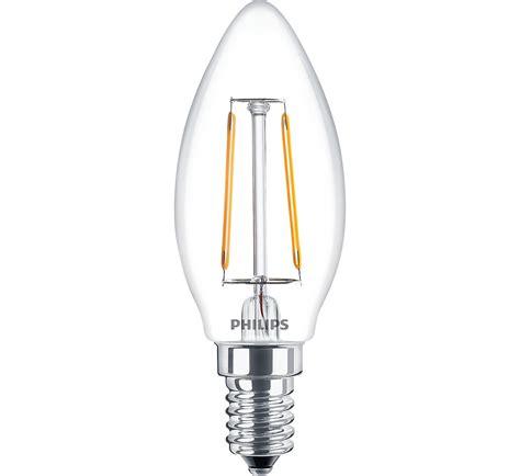Lu Led Philips E14 ledcandle nd 2 25w b35 e14 827 cl classic filament led