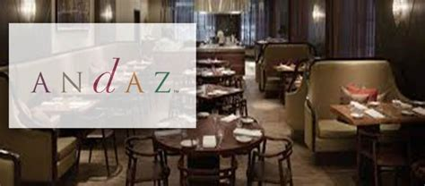andaz wall street launches andaz kitchen bar food