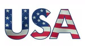 usa letters filled with waving american flag loopable