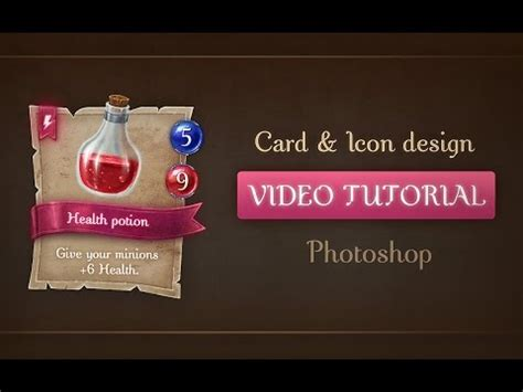 video game tutorial design tutorial designing and painting a game card template and