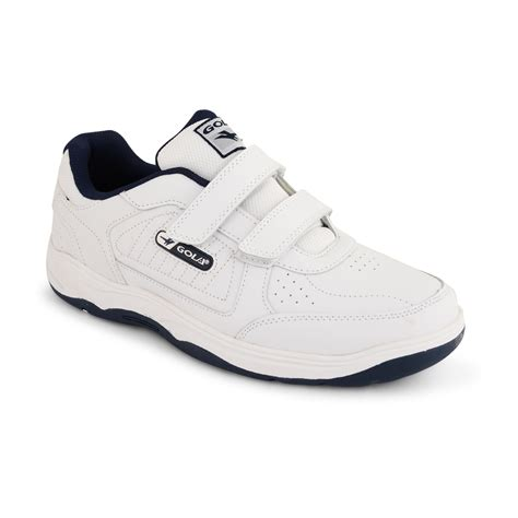 mens velcro athletic shoes mens gola wide fit ee trainers casual lace up velcro