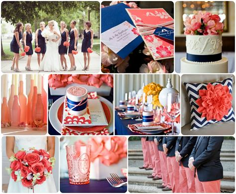 navy and coral wedding ideas coral and navy wedding inspiration aisle