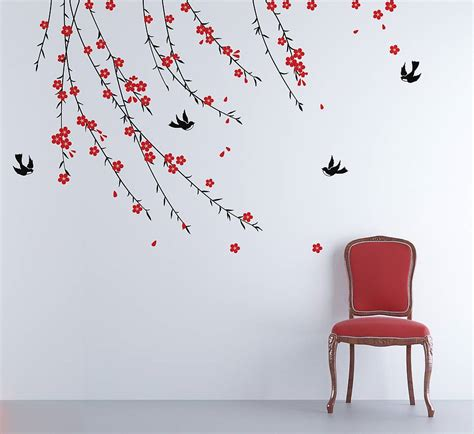 zazous wall stickers trailing blossom wall sticker by zazous