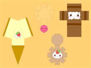 Papercraft Food Templates - best photos of kawaii papercraft template bunny
