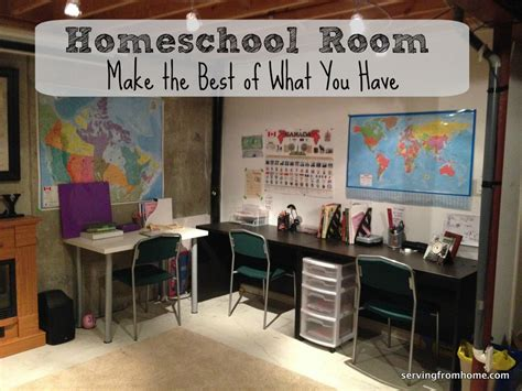 the make room homeschool room make the best of what you have serving