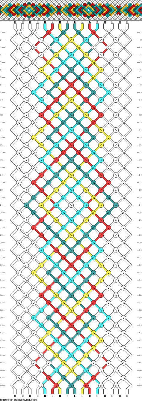 pattern friendship simple friendship bracelet pattern