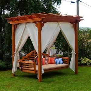 Pallet Patio Furniture For Sale Pergolas Jardin De Madera Una Zona De Recreo Ideal