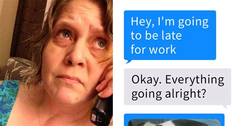 fb late woman texts boss that she s going to be late for work and