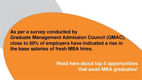 Employment For Mba Graduates by Top 5 Opportunities For Mba Graduates