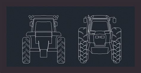 tractor dwg block  autocad designs cad