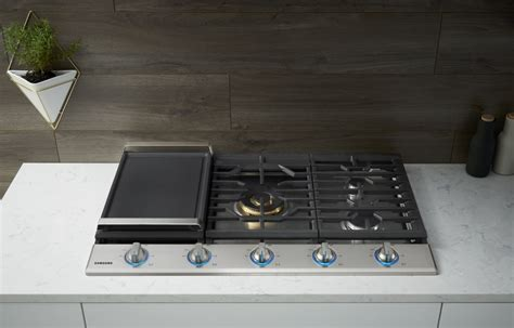 gas cooktop with grill 36 samsung na36k7750ts 36 inch gas cooktop with 5 sealed