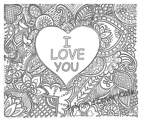 zentangle love pattern 4183 best printables images on pinterest coloring