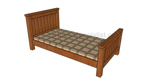 farmhouse bed plans howtospecialist how to build step single bed plans